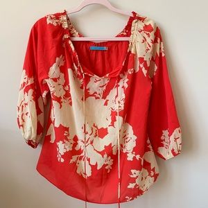 Alice and Olivia flowy abstract floral blouse #144